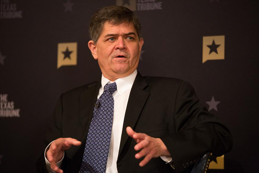 U.S. Rep. Filemon Vela, D-Brownsville, in Austin for a discussion with Texas Tribune CEO Evan Smith, on Monday, Feb. 13, 201…