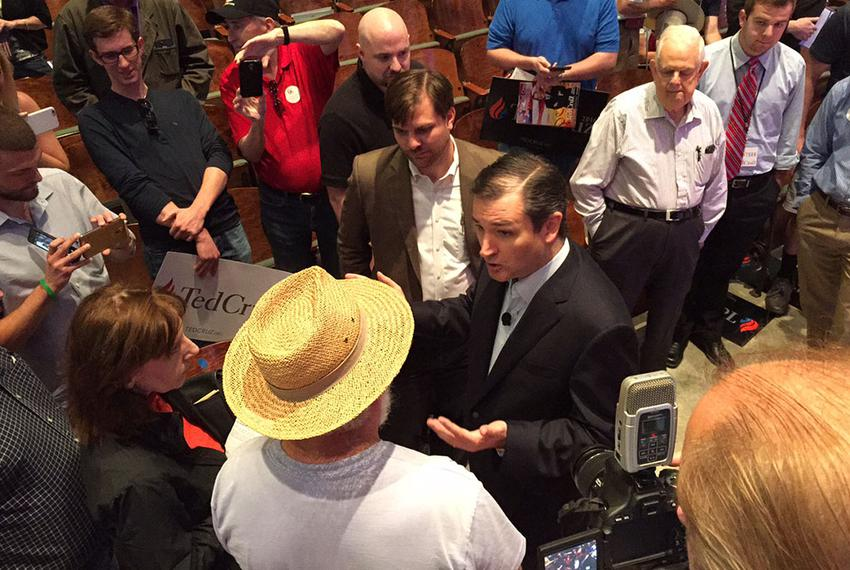 Ted Cruz at Drake University in Des Moines, Iowa on June 27, 2015.