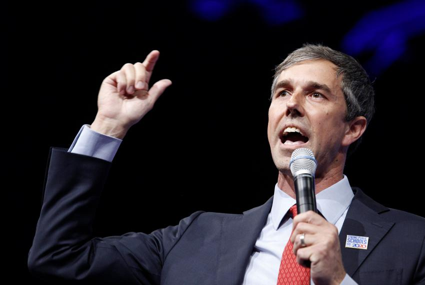Presidential candidate and former U.S. Rep. Beto O'Rourke speaks at the National Education Association presidential forum in…