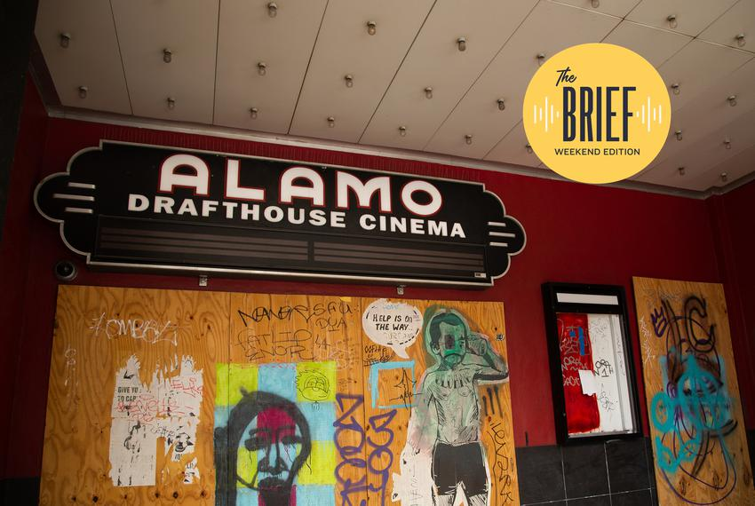 The closed-down Alamo Drafthouse Ritz Theater in Downtown Austin on March 31, 2021. Alamo Drafthouse filed for bankruptcy ea…