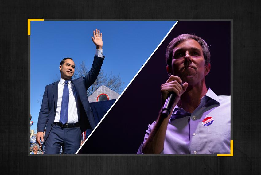 Former Housing and Urban Development Secretary Julián Castro (left) and former U.S. Rep. Beto O'Rourke.