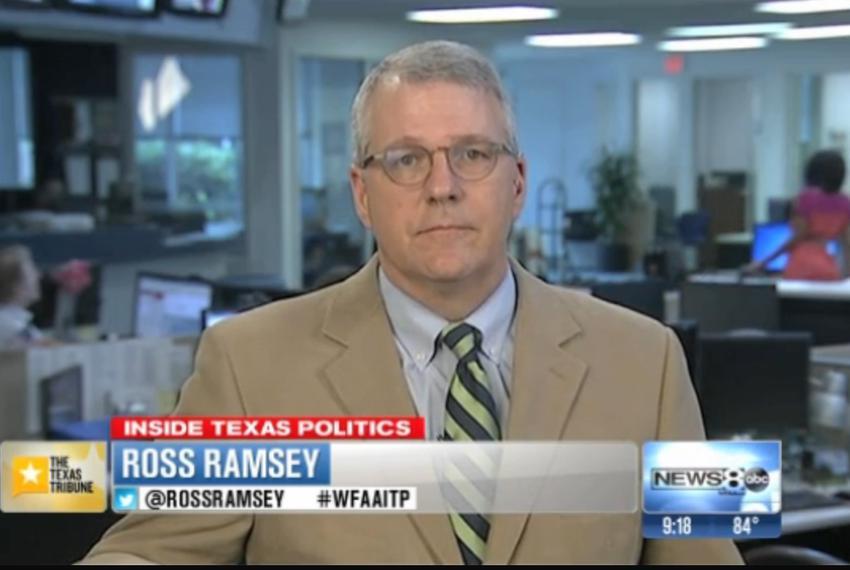 "Texas Tribune Executive Editor Ross Ramsey on WFAA-TV's ""Inside Texas Politics"" on July 27, 2014."