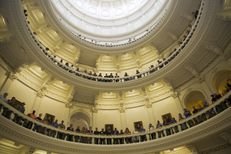 Rotunda of the Texas Capitol during a memorial service for former Gov. Mark White who passed away on August 5, 2017