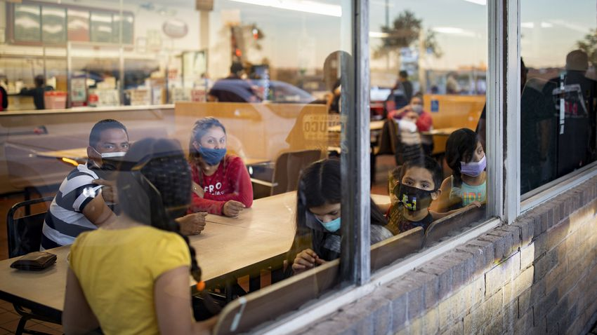Restaurant guests inside Chico's Tacos during the COVID-19 outbreak in El Paso. Nov. 15, 2020.