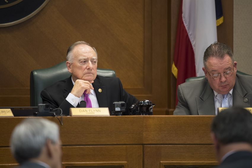 Texas House Pensions Committee Chairman Dan Flynn, R-Canton, listens to testimony on April 3, 2017.
