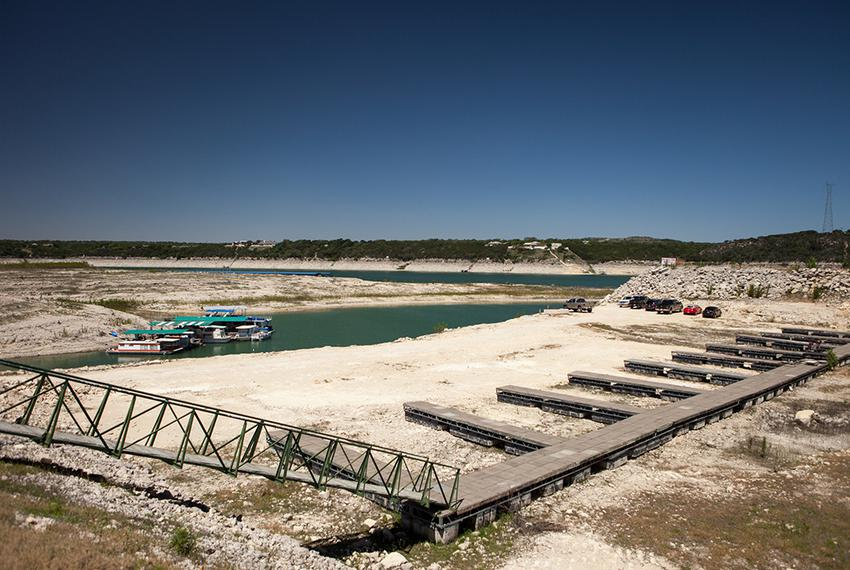 Lake Travis, a major water supply reservoir for Austin, is severely depleted due to drought. The State Water Plan calls fo...