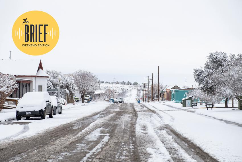 Marfa is covered with snow a second time. Another snowstorm came in early Thursday morning, the day after the power was rest…
