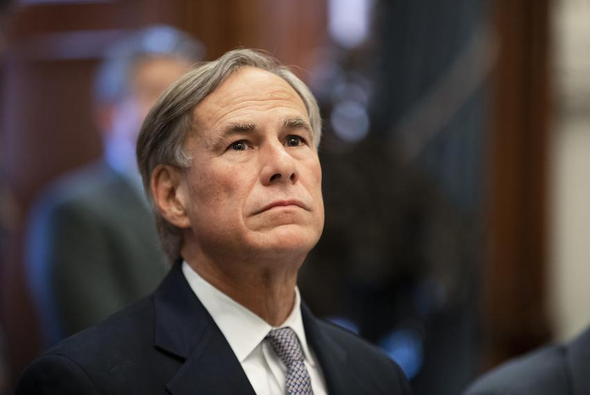 Gov. Greg Abbott briefs reporters during a press conference on a Domestic Terrorism Task Force roundtable held at the capi...