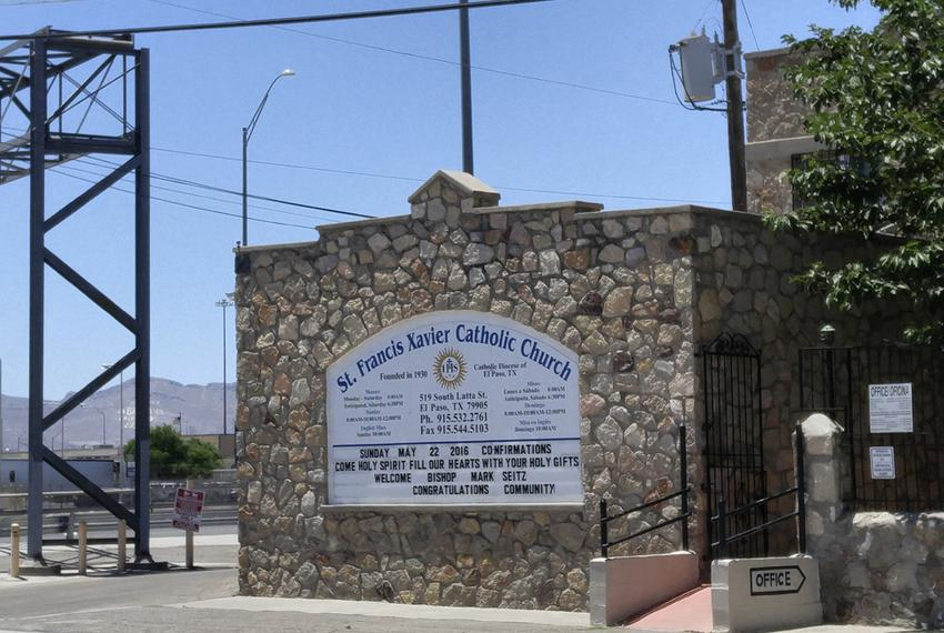 St. Francis Xavier Catholic Church, which sits two blocks from Bridge of the Americas in El Paso, is one of several shelters…