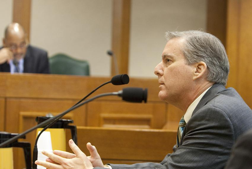 Williamson County DA John Bradley during his Senate Nomination Committee to the Forensic Science Committee. February 28th, 2…
