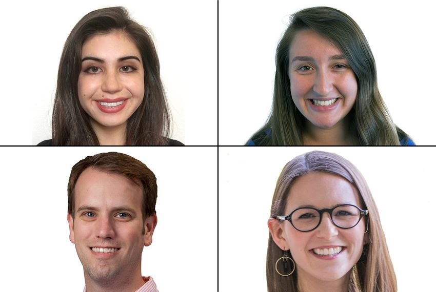 Clockwise from top left: Shannon Najmabadi, Emma Platoff, Emily Yount and Matthew Watkins.