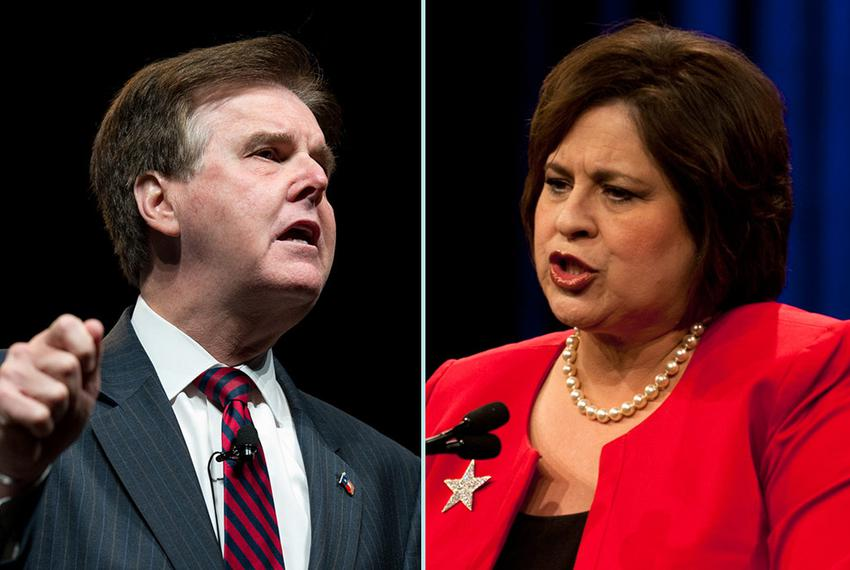 Democratic state Sen. Leticia Van de Putte and Republican state Sen. Dan Patrick, who are facing off in a fiery race to beco…