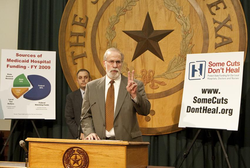 Leaders from Texas Hospital Association and other hospital groups urge members of the Texas House to protect funding for loc…