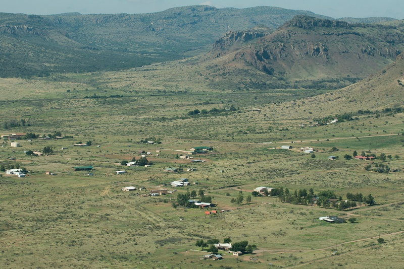 An aerial photograph of the Big Bend region near Alpine, where the proposed pipeline will run, stirring concerns among landowners and environmentalists in the largely untouched region.