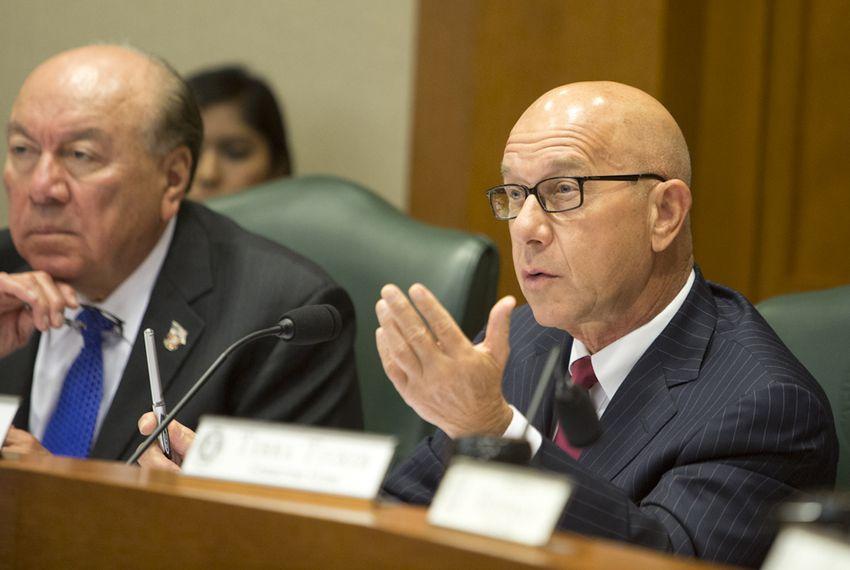 Sen. John Whitmire D-Houston during a September 22 Senate Criminal Justice Committee hearing