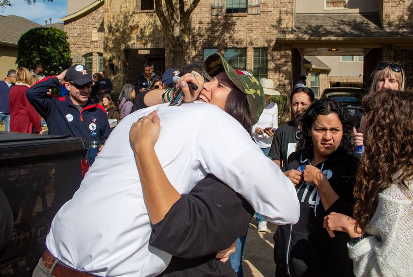Jacqueline Westman and Beto O'Rourke.