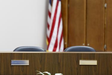 Elected school board members' nameplates had been removed in the Shepherd ISD school board meeting room before Monday's scheduled meeting.