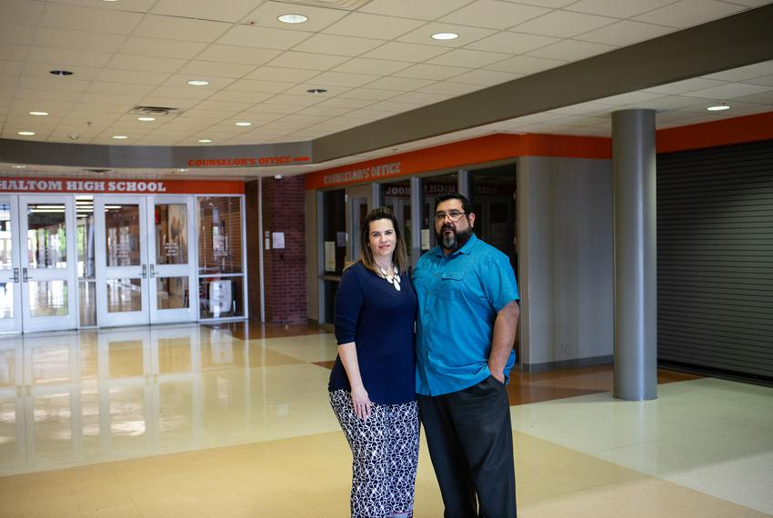 Liz and Jeremiah Pena are educators in Birdville ISD in Haltom City and last year they estimated they paid over $11,000 on h…