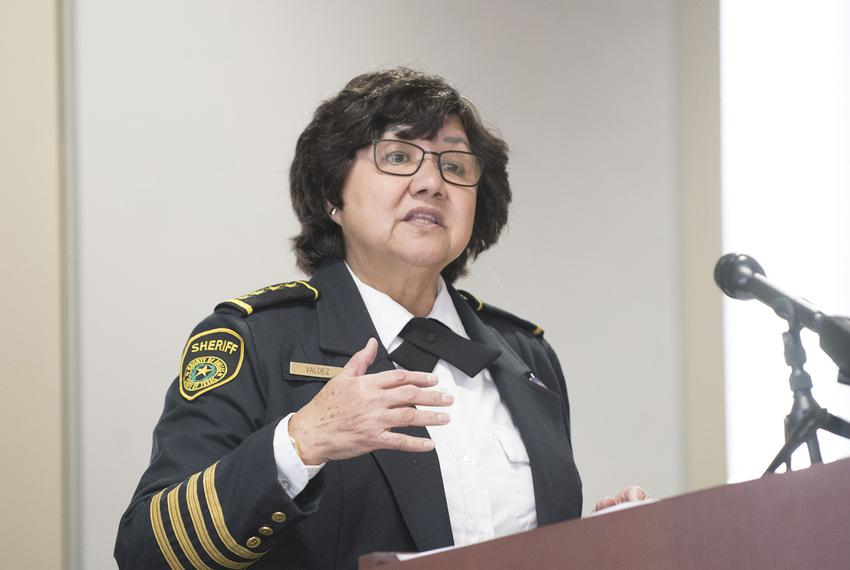 Dallas County Sheriff Lupe Valdez speaks at a law enforcement panel discussion of Senate Bill 4, the so-called Sanctuary C...