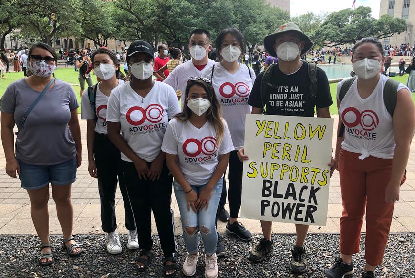 From left, Au Huynh, Vee Duong, Emma Crooks, Gloria Gonzalez, Long Nguyen, Debbie Chen, Dr. Stephen Chao, Patricia Garcia.