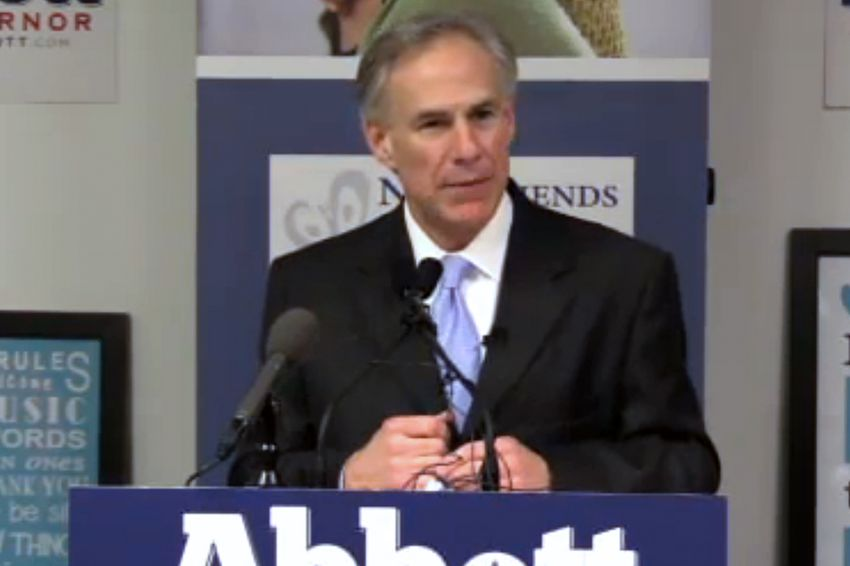 """Attorney General and Republican gubernatorial candidate Greg Abbott talked about border security, criminal justice and other issues during his """"Securing Texans"""" address in Dallas on Tuesday, Jan. 4, 2014."""