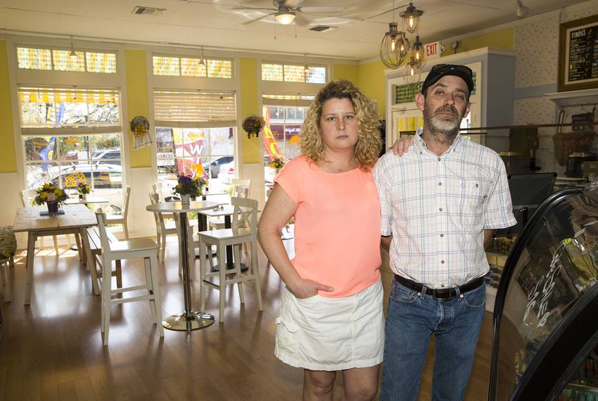 New Braunfels' Le Citron European Cafe and Bistro Owners Cinderella Von Hach and Steven Startz say their business has been...