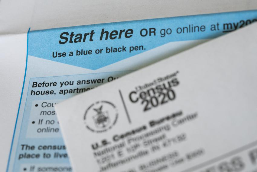 The 2020 Census questionnaire and other Census documents on April 26, 2020.