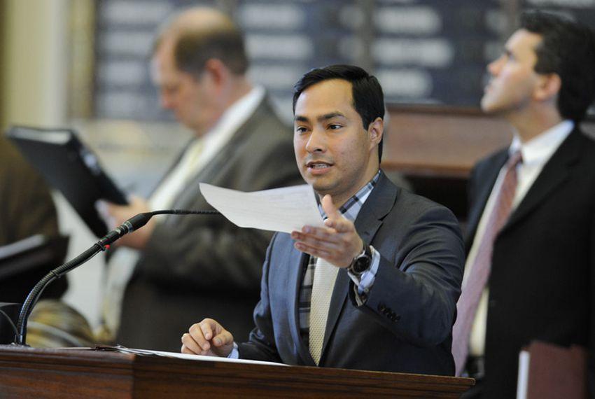 State Rep. Joaquin Castro, D-San Antonio,  debates on proposed amendment #28 to HB4 on March 31, 2011.