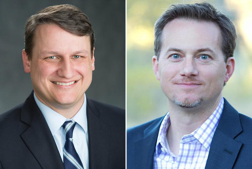 Bech Bruun (left) and Michael Cloud are Republican candidates facing off in the May runoff for the 27th Congressional Distri…