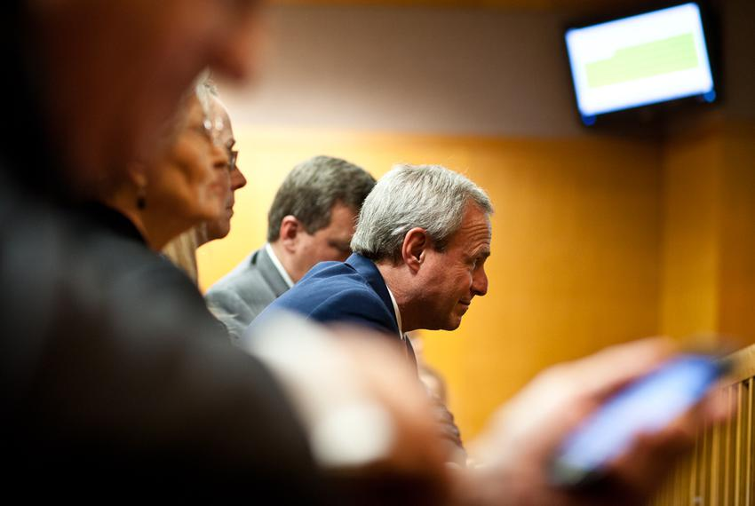 Michael Morton watches as the court of inquiry explores former Williamson County District Attorney Ken Anderson's role in Mo…