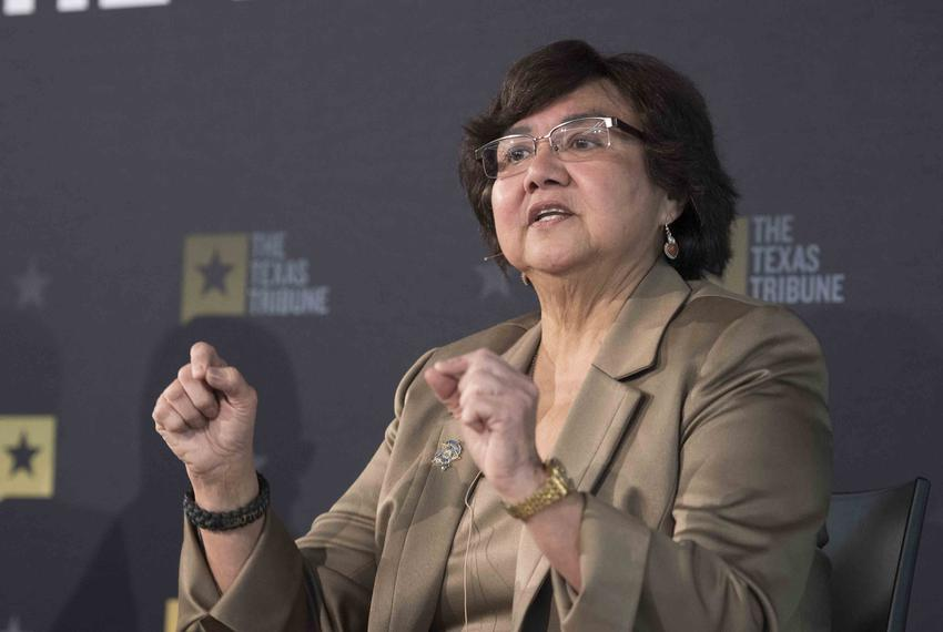 Democratic gubernatorial candidate Lupe Valdez of Dallas answers audience questions at a Texas Tribune event on Jan. 18, 2...