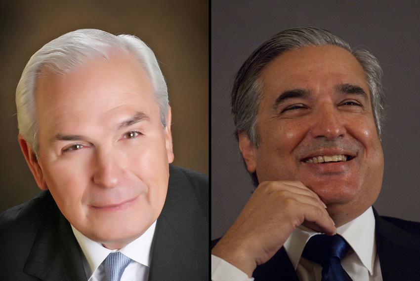 Gene Powell and Francisco Cigarroa