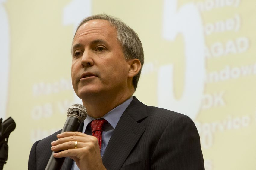 Texas Attorney General Ken Paxton spoke at the 2015 Open Government Conference in San Marcos on Dec. 9, 2015.