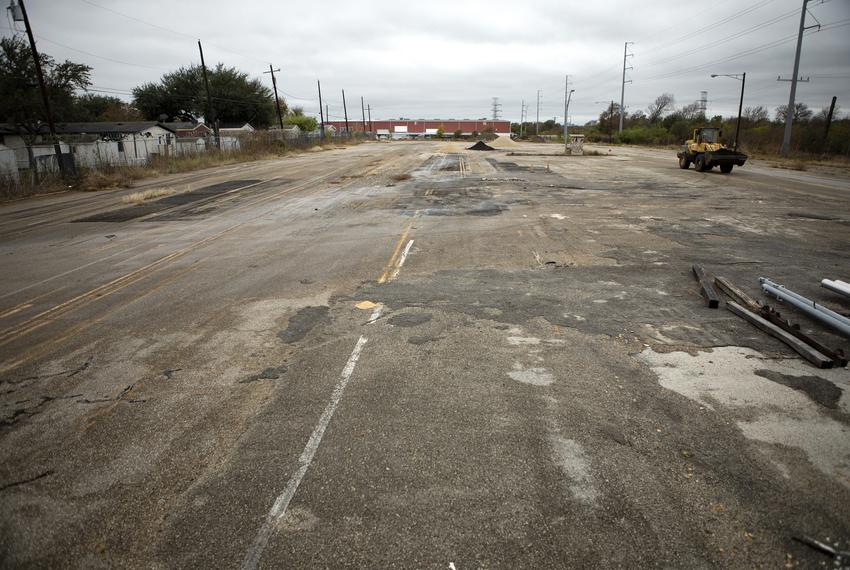 The location of the homeless camp Gov. Greg Abbott declared on Nov. 7, 2019. The site is five acres of state owned land loca…