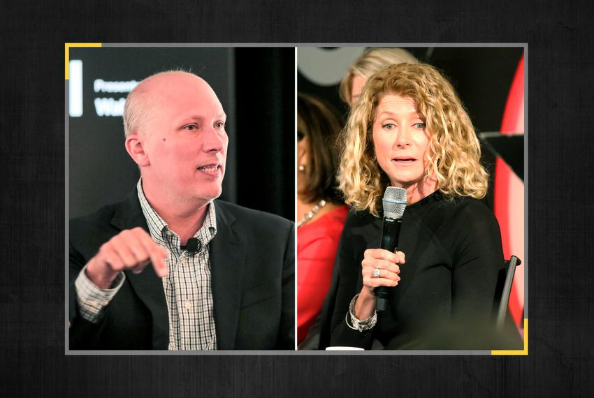 U.S. Rep. Chip Roy, R-Austin, and former state Sen. and Democratic gubernatorial candidate Wendy Davis.