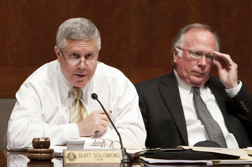 Rep. Burt Solomons R-Carrollton, Chair of the Redistricting Committee, during meeting on June 2nd, 2011