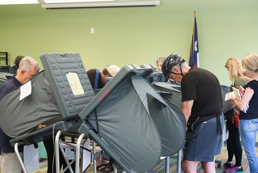 Voters cast their ballots in Harris County on Oct. 23, 2015.