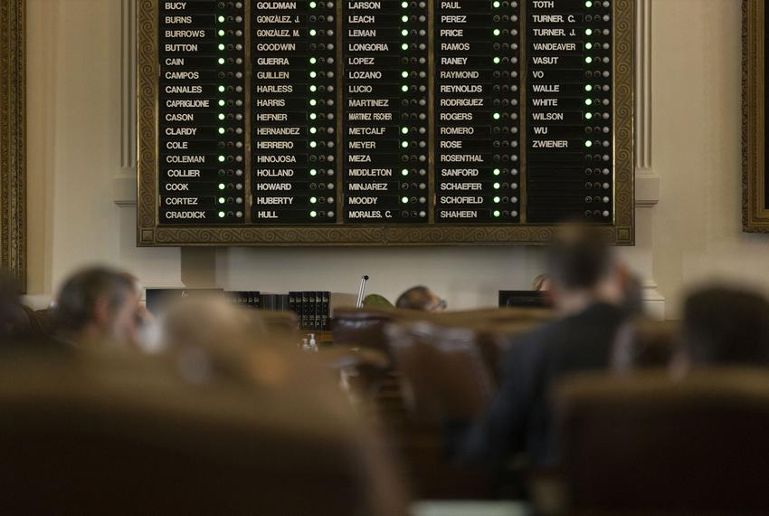 Roll call is tallied on the House Floor on Aug. 23, 2021