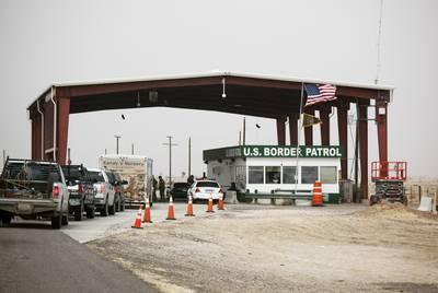 The Border Patrol inspection station on U.S. 67 between Presidio and Marfa.