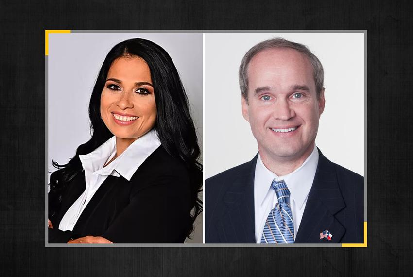 Angelica Garcia and former state Rep. Mike Schofield are running for Texas House District 132 in the Republican primary.