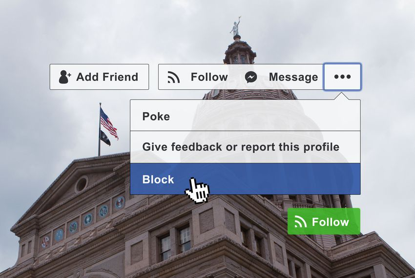 Can public officials block users on Facebook? A Texas case