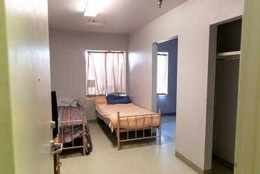 An empty dormitory at the Abilene Hope Haven shelter in Abilene.