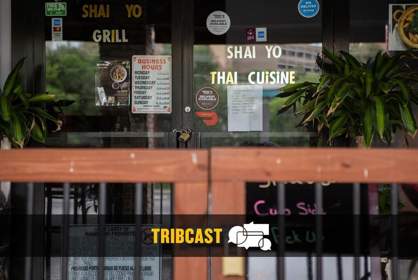 Shai Yo Thai restaurant in San Marcos, temporarily closed during the COVID-19 pandemic.