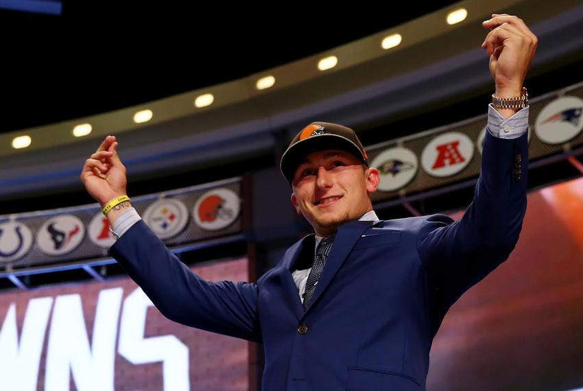 Former A&M quarterback Johnny Manziel recently drafted by the NFL Cleveland Browns was drafted by the San Diego Padres in th…