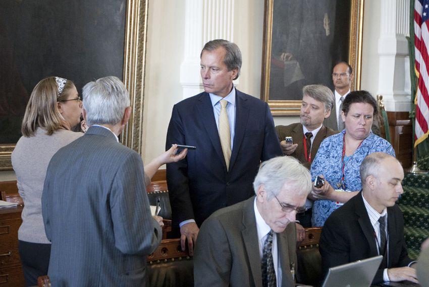 Lt. Gov. David Dewhurst speaks to reporters on June 3rd, 2011