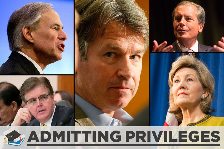 Clockwise, from top left: Attorney General Greg Abbott, the Republican nominee for governor; University of Texas System Regent Wallace Hall; Lt. Gov. David Dewhurst; former U.S. Sen. Kay Bailey Hutchison; and state Sen. Dan Patrick, R-Houston, the Republican nominee for lieutenant governor.