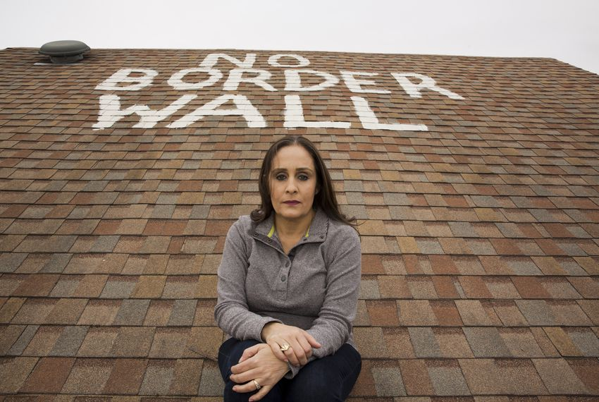 Nayda Alvarez painted this message on the roof of her home in La Rosita, Texas, after receiving letters from the federal government stating that a portion of her land could be seized for the  border wall.