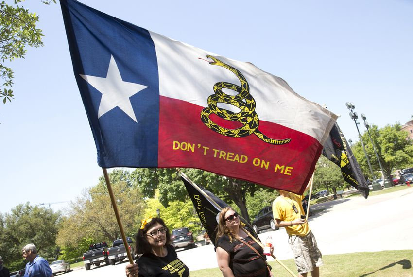 Texas Tax Day Tea Party Rally at the Texas Capitol on April 15th, 2015