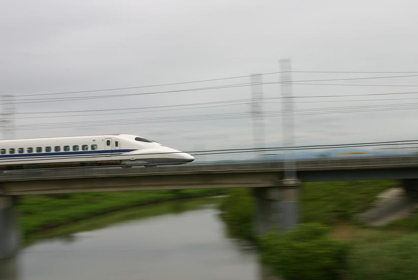 The JR Central N700 Series, a Japanese Shinkansen bullet train.