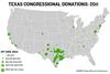 Congressional Fundraising By Zip Code Prefix: 1st Quarter 2011